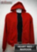 Maroon Hooded Sweater, sweater hoodie maroon half zipper