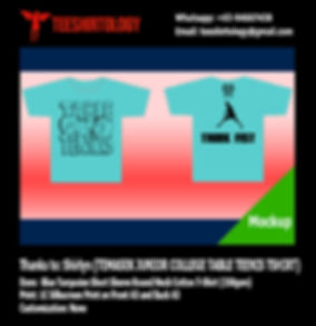 TJC Temasek JC Table Tennis Team Cotton  T-Shirt Silkscreenprinting