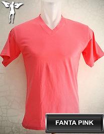 Fanta Pink V-Neck t-shirt, kaos pink fanta