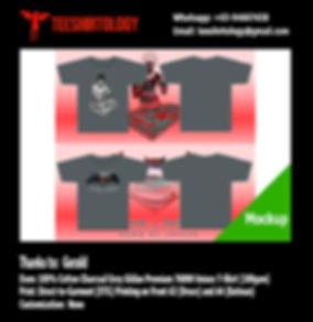 Bruce Lee and Batman Charcoal Grey Cotton Gildan Premium 76000 TShirt DTG Printing
