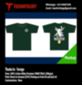 DTG Printing of Forest Green Cotton Gildan Premium 76000 Shirt