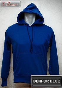 Benhur Blue Hooded Sweater, sweater hoodie biru benhur