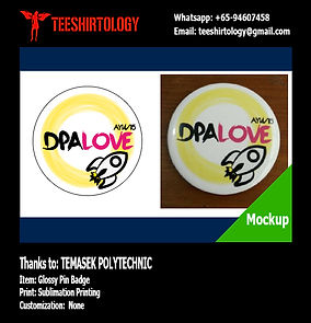 Temasek Polytechnic DPA Love Glossy Pin Badge