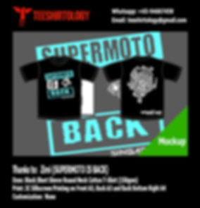Supermoto is Back Black Cotton TShirt Screenprinting