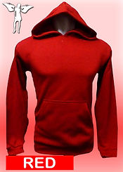 Digital Printing, Silkscreen Printing, Embroidery, Red Hoodie, Red Fleece Hoodie