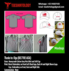 Beltyre Asia Drill Cap and Grey Honeycomb Cotton Polo Shirt Embroidery