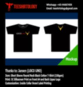 Loco Uno Screenprint of Black Cotton T-Shirt