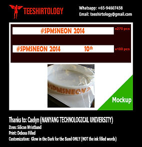 NTU Glow in the Dark Deboss Filled Silicon Band