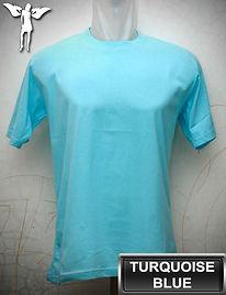 Turquoise Blue T-Shirt, kaos biru turkis, turquoise blue round neck t-shirt, turquoise blue crew neck t-shirt
