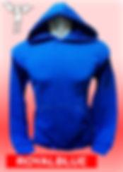 Digital Printing, Silkscreen Printing, Embroidery, Royal Blue Hoodie, Royal Blue Fleece Hoodie