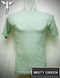 Misty Green t-shirt, kaos hijau misty, misty green round neck t-shirt, misty green crew neck t-shirt