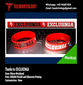 Exclusnga Deboss Ink Filled Silicon Wristband