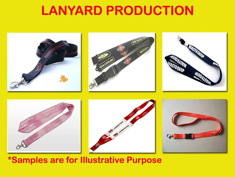 lanyard with standard clip, lanyard with crocodile clip, lanyard with belt clip.