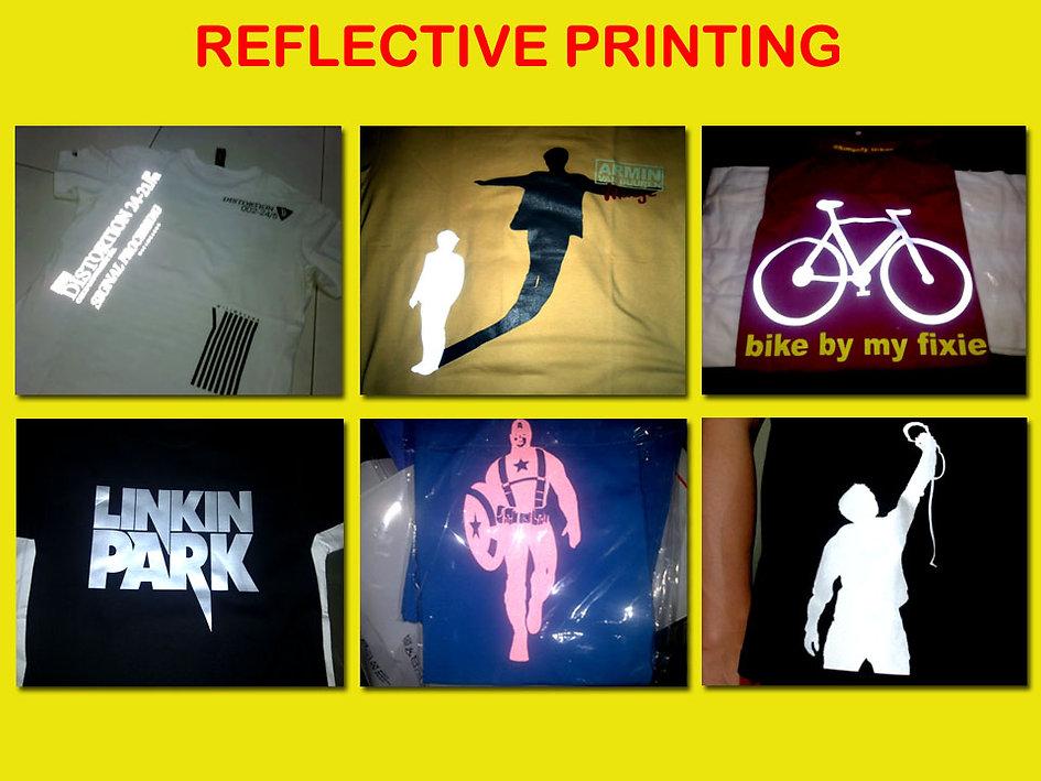 Reflective Silkscreen Printing, Sablon Reflective, T-Shirt Printing