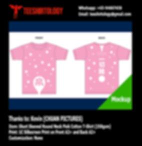CHUAN Pictures Pink Cotton T-Shirt Silkscreen Printing