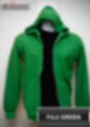 Fuji Green Hooded Sweater, sweater hoodie hijau fuji half zipper