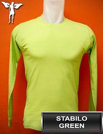 Long Sleeved Stabilo Green T-Shirt, kaos lengan panjang hijau stabilo