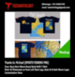 Sports Fishing PNG Navy Blue Drifit T-Shirt Silkscreen Printing