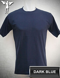 Dark Blue T-Shirt, kaos biru tua, navy blue round neck t-shirt, navy blue crew neck t-shirt