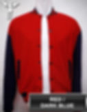 Red/DarkBlue Varsity Jacket, baseball jacket, college jacket
