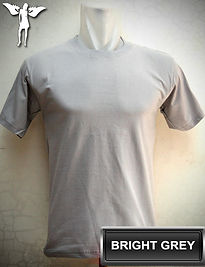 Bright Grey t-shirt, kaos abu muda, grey round neck t-shirt, Grey crew neck t-shirt