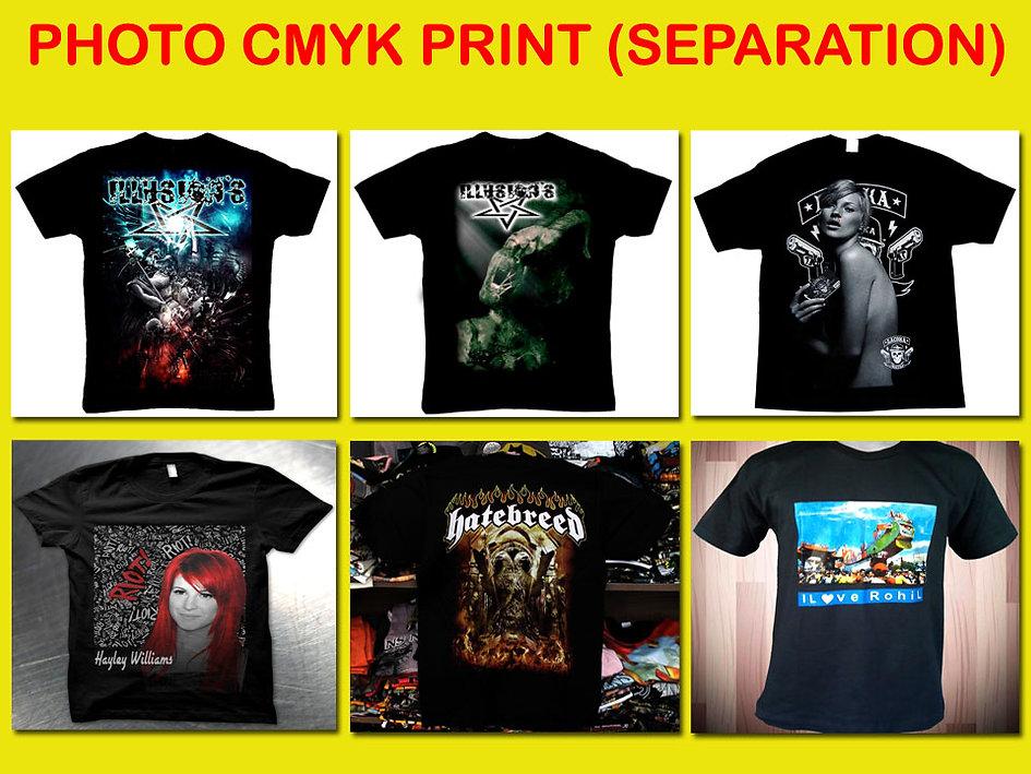 Photo Printing, CMYK Printing, Separation Printing, Sablon Separasi