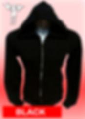 Digital Printing, Silkscreen Printing, Embroidery, Black Zipped Hoodie, Black Fleece Zipped Hoodie