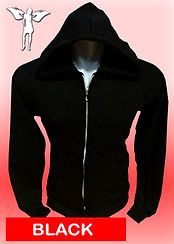 Digital Printing, Silkscreen Printing, Embroidery, Black Zipped Hoodie, Black Fleece Zipped Hoodie