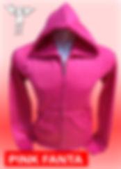 Digital Printing, Silkscreen Printing, Embroidery, Pink Fanta Zipped Hoodie, Pink Fanta Fleece Zipped Hoodie