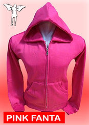 Digital Printing, Silkscreen Printing, Embroidery, Pink Fanta Zipped Hoodie, Pink Fanta Fleece Zipped Hoodie