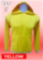 Digital Printing, Silkscreen Printing, Embroidery, Yellow Hoodie, Yellow Fleece Hoodie