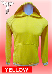 Digital Printing, Silkscreen Printing, Embroidery, Yellow Hoodie, Yellow Fleece Hoodie