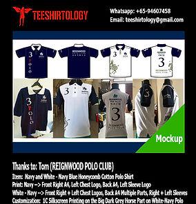 Reignwood Club Custom Polo Shirt Embroidery