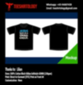 Jesus Theme Black Cotton Gildan Softstyle 63000 T-Shirt DTG A4 Print