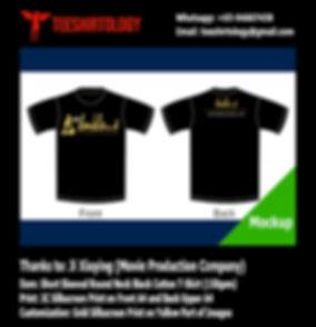 Video Production Crew Black Cotton T-Shirt Silkscreen Printing