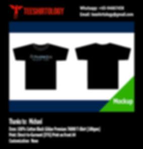 Monster Kiss Fishing T-Shirt Black Cotton Gildan Premium 76000 T-Shirt with DTG A4 Printing