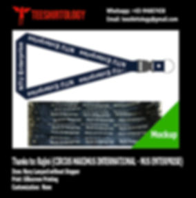 NTU Enterprise Silkscreen Printed Polyester Lanyard without Stopper