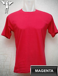 magenta t-shirt, kaos magenta, magenta round neck t-shirt, magenta crew neck t-shirt