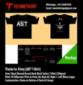 Screenprint of Black Cotton T-Shirt with Custom Name