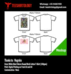 Naruto and Disney Princess White Cotton T-Shirt DTG Printing