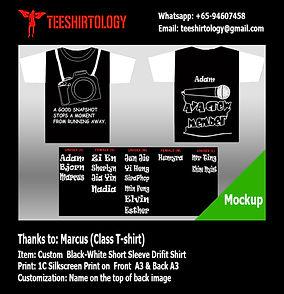 Silkscreen Print of Class Drifit T-Shirt with Custom Name