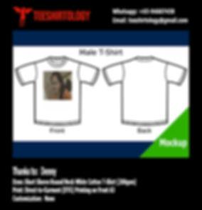 Farewell White Cotton T-Shirt DTG A4 Print