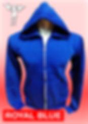 Digital Printing, Silkscreen Printing, Embroidery, Royal Blue Zipped Hoodie, Royal Blue Fleece Zipped Hoodie
