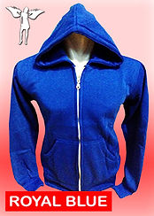 Digital Printing, Silkscreen Printing, Embroidery, Royal Blue Zipped Hoodie, Royal Blue Fleece Zipped Hoodie
