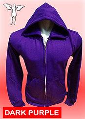 Digital Printing, Silkscreen Printing, Embroidery, Dark Purple Zipped Hoodie, Dark Purple Fleece Zipped Hoodie