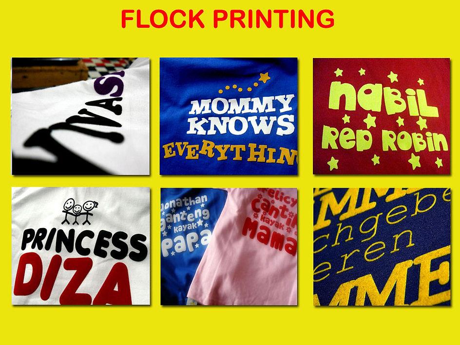 Flock Printing, Sablon Flock, Sablon beludru, t-shirt printing