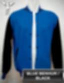 Benhur Blue/Black Varsity Jacket, baseball jacket, college jacket