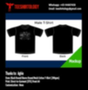 DTG A4 Print of Lamb of God Black Cottn T-Shirt