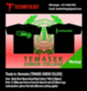 TJC Temasek JC Glow in the Dark Silkscreen Printed Black Cotton T-Shirt