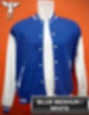 Benhur Blue/White Varsity Jacket, baseball jacket, college jacket